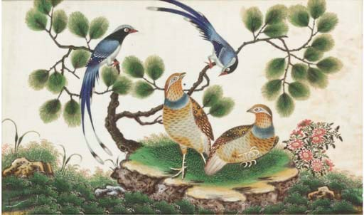 Three Chinese export paintings