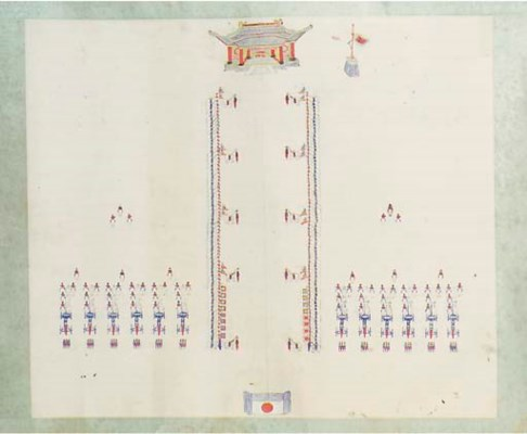 A large Chinese handscroll, 19