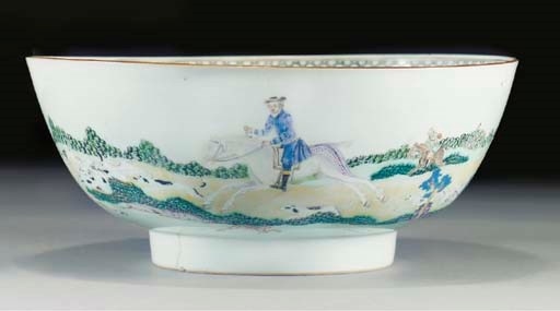 An export punch bowl, Qianlong