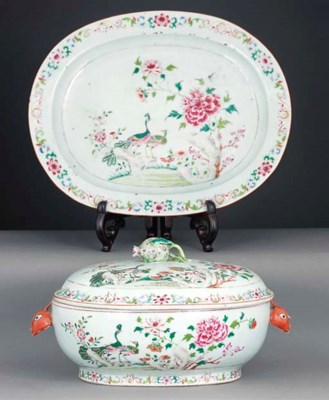 A famille rose export tureen,