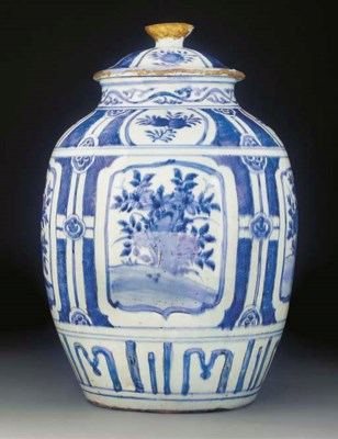 A large blue and white Kraak p