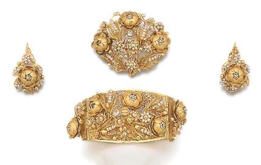 A 19th century filigree gold a