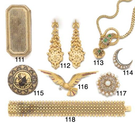 A 19th century gold broad brac