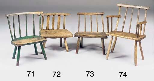 An Irish ash stick back chair