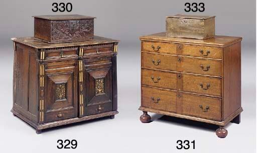 An English oak carved box