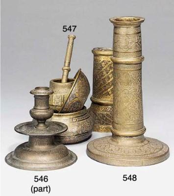 A copper alloy candlestick