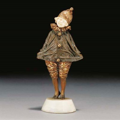 'Little Clown' a patinated and