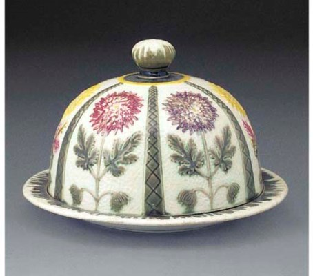 A Wedgwood Majolica Cheese Dish And Cover Date Cypher