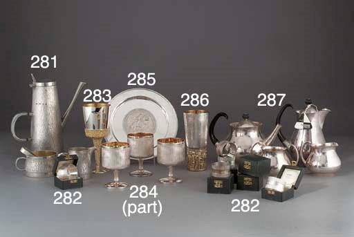 A Modern Parcel-Gilt Silver Co