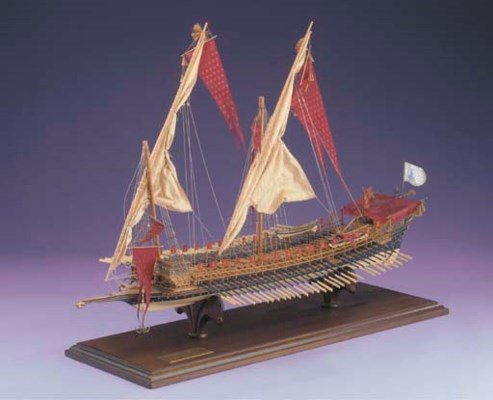 A fully-planked and rigged 1:6