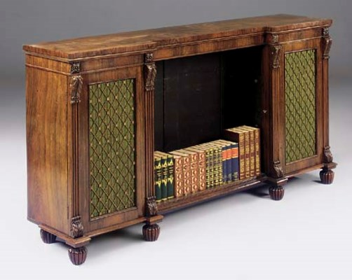 A LATE REGENCY ROSEWOOD BOOKCA