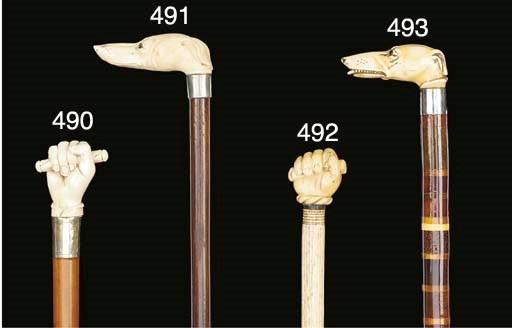 An ivory and whale bone walkin