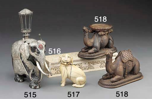 Two Anglo-Indian carved and st