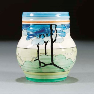A BLUE FIRS VASE