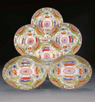 A French porcelain part servic
