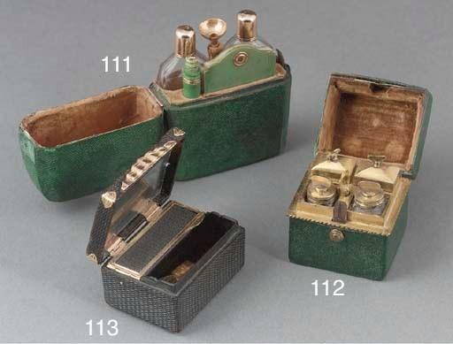 A gilt-metal shagreen box