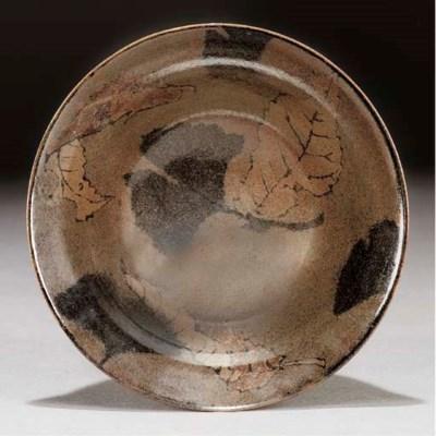 A temmoku glazed bowl, Uno Nao