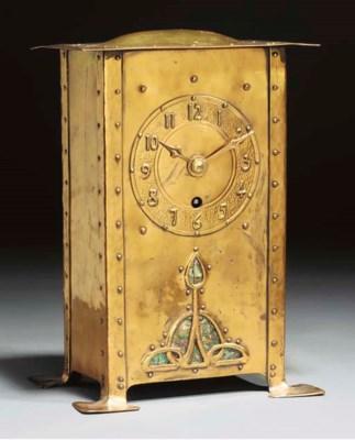 A Brass Clock with Copper Pati