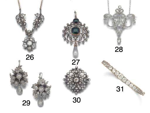 A late 19th century diamond ha