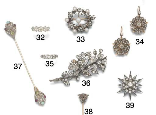 A Victorian diamond twelve poi