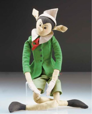 A felt Pinocchio