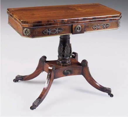 A REGENCY ROSEWOOD AND SIMULAT