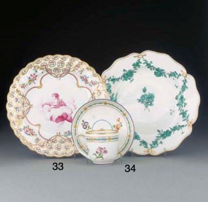 A group of ten English porcela