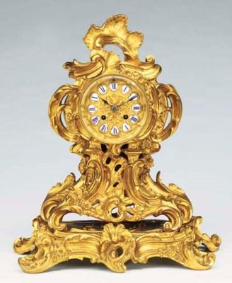 A Napoleon III gilt-bronze str
