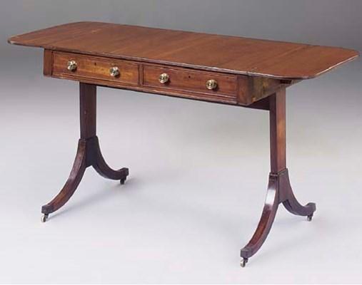 A REGENCY MAHOGANY SOFA TABLE