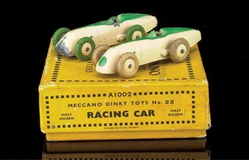 Pre-war Dinky 23 Racing Cars a