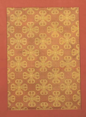 A panel of silk brocade, the c