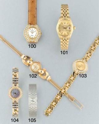 Rolex: A lady's gold wristwatc