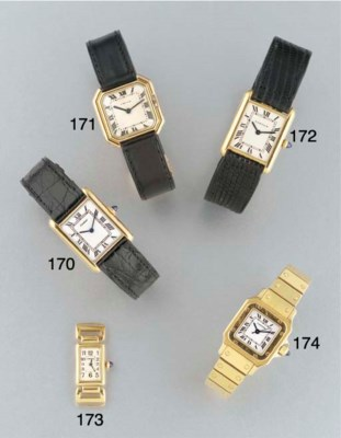 Cartier: An 18ct. gold rectang