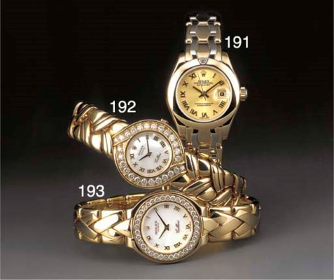 Rolex: An 18ct. gold and diamo