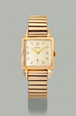 Rolex. An unusual gold-plated