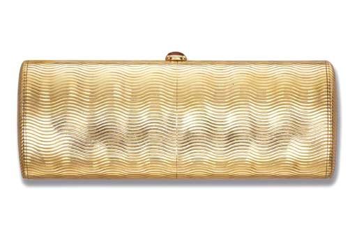 A GOLD VANITY CASE, BY BULGARI