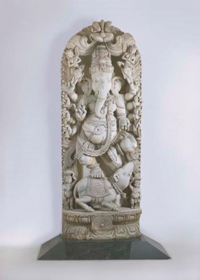 A LARGE CARVED WOOD FIGURE OF