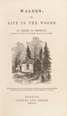 thoreau henry david 1817 1862 walden or life in the. Black Bedroom Furniture Sets. Home Design Ideas