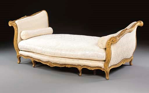 a louis xv giltwood lit de repos mid 18th century altered in size christie 39 s. Black Bedroom Furniture Sets. Home Design Ideas