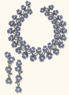 AN UNUSUAL SUITE OF SAPPHIRE,