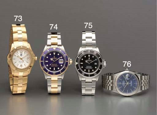 Rolex. A stainless steel and w