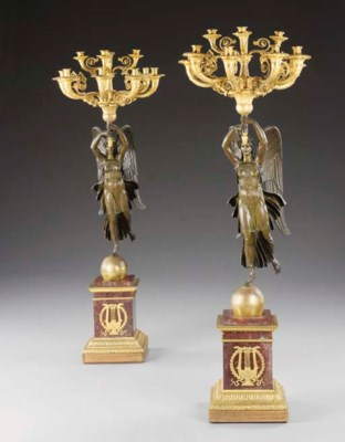 A large pair of Empire style o