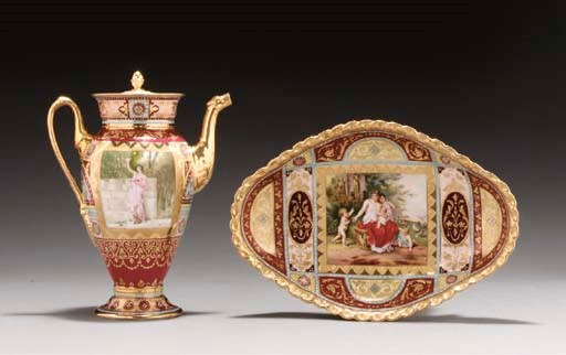 A VIENNA STYLE COFFEE-POT AND