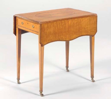 A VICTORIAN INLAID SATINWOOD P