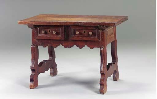 A SPANISH WALNUT SIDE TABLE,