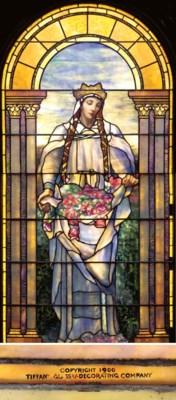 'SAINT ELIZABETH', A LEADED GL