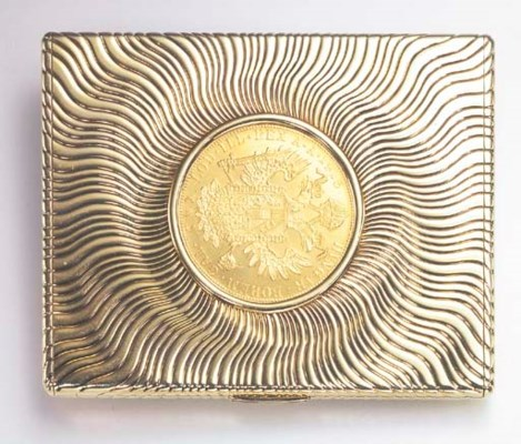 A GOLD CIGARETTE CASE, BY BULG