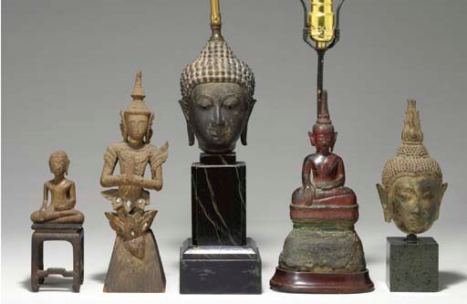 A Group Of Five Thai Figures