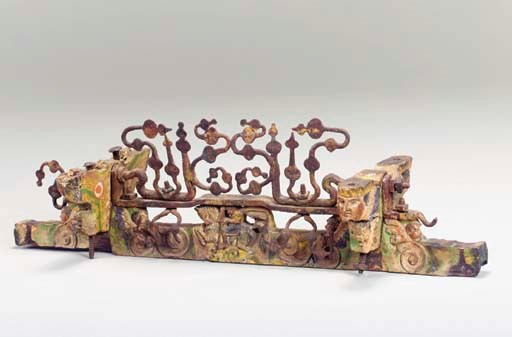 SICILIAN PAINTED WOOD AND IRON