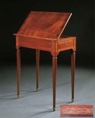 table liseuse d 39 epoque louis xvi estampille de jean francois leleu christie 39 s. Black Bedroom Furniture Sets. Home Design Ideas